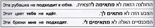 Предложения на иврите со словом מתאים